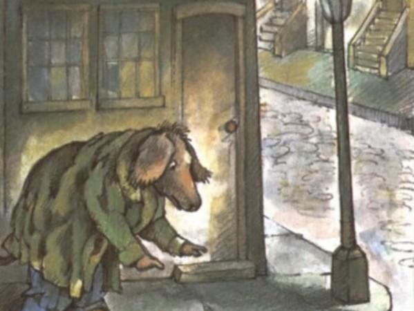 El pobre perro viejo