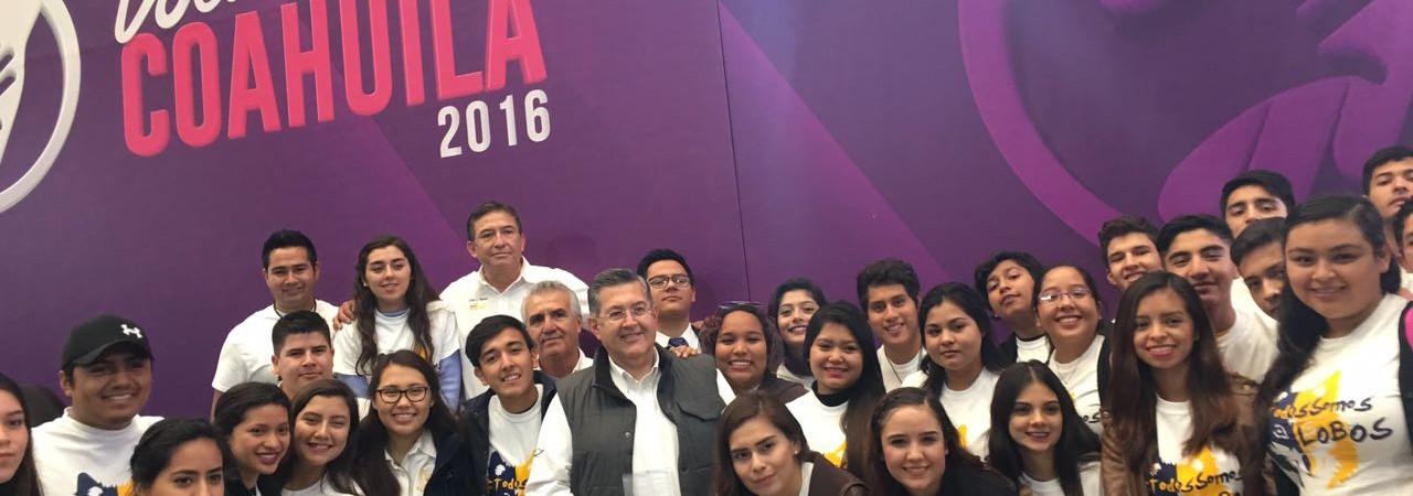 Recibe Brigada Lobos al Rescate la Presea Voluntariado por Coahuila 2016
